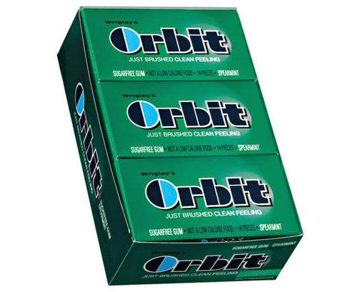 Orbit Regular Gum - Spearmint - 12 Count