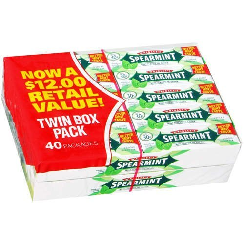 Wrigley's 30 Cents Size Gum - Spearmint 40 Count