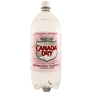 Canada Dry Pomegranate Cherry Seltzer - 1 Liter - Case of 12