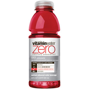 Glaceau Vitamin Water 20 oz - Diet XXX (Pomegranate) - Case of 24