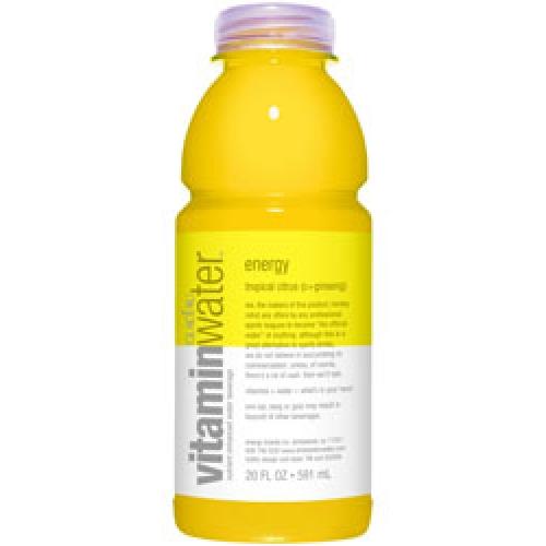 Glaceau (Vitamin Water) 20 oz - Energy (Tropical Citrus) - Case of 24