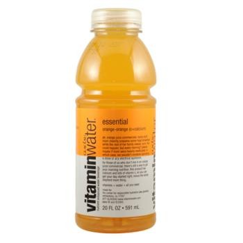 Glaceau (Vitamin Water) 20 oz - Essential (Orange-Orange) - Case of 24