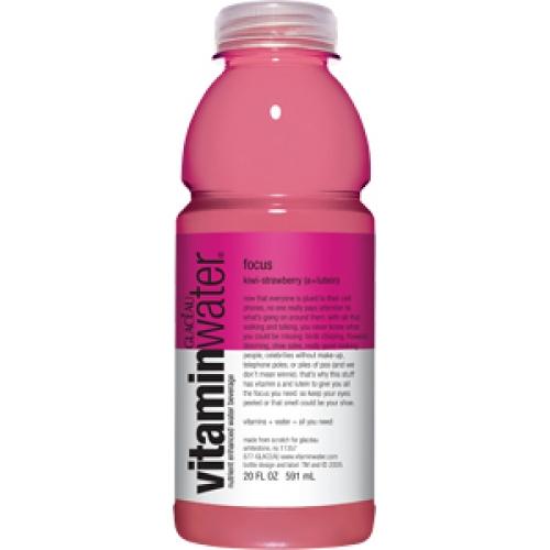 Glaceau (Vitamin Water) 20 oz - Focus (Kiwi-Strawberry) - Case of 24