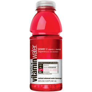 Glaceau Vitamin Water 20 oz - Power C (Dragon Fruit) - Case of 24