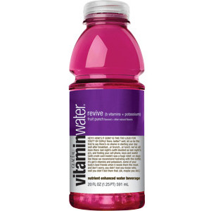 Glaceau Vitamin Water 20 oz - Revive (Fruit Punch) - Case of 24