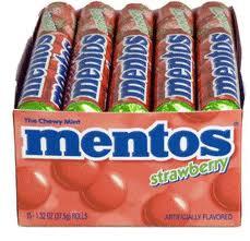 Mentos - Strawberry - 15 Count