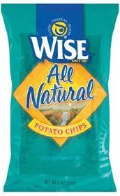 Wise Plain Potato Chips 72 Count