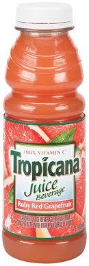 Tropicana 16 oz Ruby Red Grapefruit Case of 12