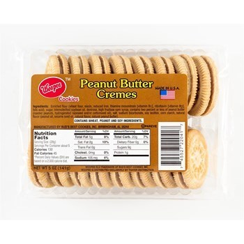 Whoopie Peanut Butter Creme Cookies 12/5 Oz