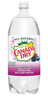 Canada Dry Triple Berry Seltzer 2 Liter- Case of 6