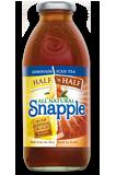 Snapple 16 oz New Plastic Bottles 1/2 Lemonade &1/2 Tea - Case of 24