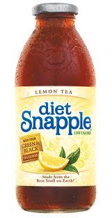 Snapple 16 oz New Plastic Bottle Diet Lemon Tea - Case of 24