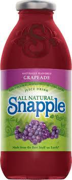 Snapple 16 oz New Plastic Bottle Grapeade - Case of 24