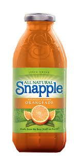 Snapple 16 oz New Plastic Bottle Orangeade - Case of 24
