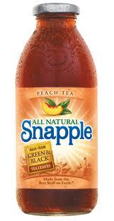 Snapple 16 oz New Plastic Bottle Peach Tea - Case of 24
