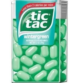 Tic Tacs - Wintergreen 12 count