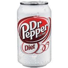 Diet Dr. Pepper - 12 oz - Case of 24