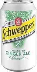 Diet Schweppes Ginger Ale - 12 oz - Case of 24
