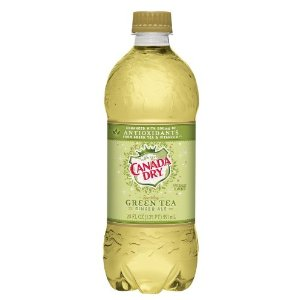 Canada Dry Green Tea Ginger Ale 20 oz - Case of 24