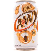 A&W Diet Root Beer 12 oz (cans) -   Case of 24