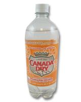 Canada Dry Orange  Seltzer - 1 Liter K.F.P.  Case of 12