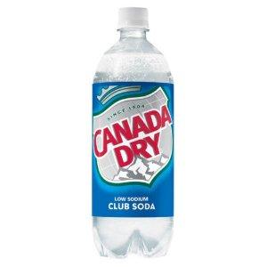Canada Dry Club Soda - 1 Liter - Case of 12