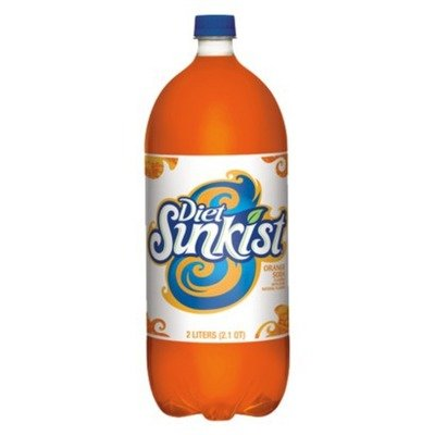 Diet Sunkist Orange 2 Liter - Case of 6