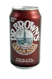 Dr. Browns Cream Soda Cans 12 oz  Case of 24