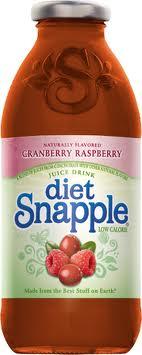 Snapple 16 oz New Plastic Bottles Diet Cranberry Raspberry Case of 24
