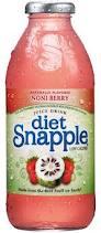 Snapple 16 oz New Plastic Bottle - Diet NoniBerry - Case of 24