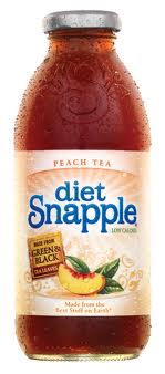 Snapple 16 oz New Plastic Bottle Diet Peach Tea - Case of 24