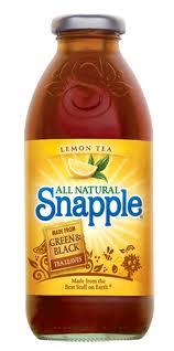 Snapple 16 oz New Plastic Bottle Lemon Tea - Case of 24