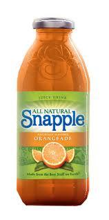 Snapple 16 oz New Plastic Bottle Orangeade - Case of 24