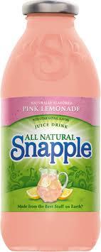Snapple 16 oz New Plastic Bottle Pink Lemonade - Case of 24