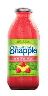 Snapple 16 oz New Plastic Bottle Raspberry Peach - Case of 24