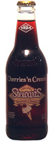 Stewarts Cherry Cream -  12 oz. Glass Bottles - Case of 24