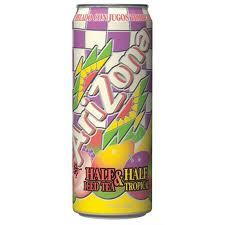 Arizona 23.5 oz Cans  1/2 & 1/2 Tropical - Case of 24