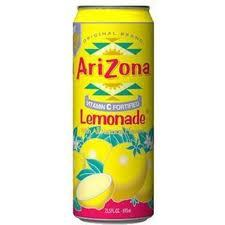 Arizona 23.5 oz Cans Lemonade - Case of 24