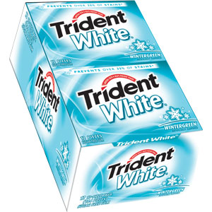 Trident White Gum - Wintergreen - 12 Count
