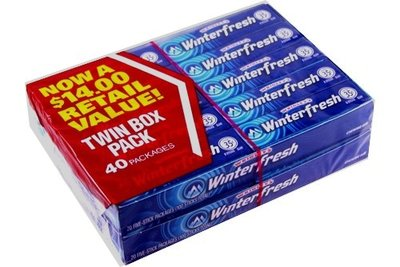 Wrigley's 30 Cents Size Gum - Winterfresh 40 Count
