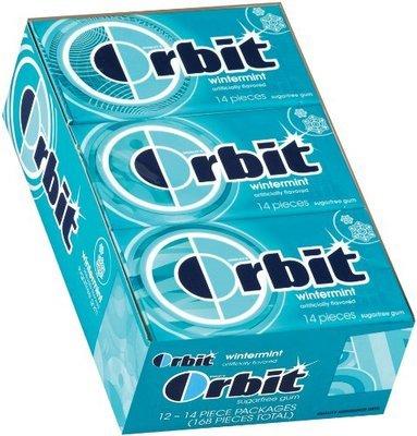 Orbit Regular Gum - Wintermint - 12 Count