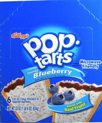 Kellog's Pop Tarts - Blueberry 6/2 packs