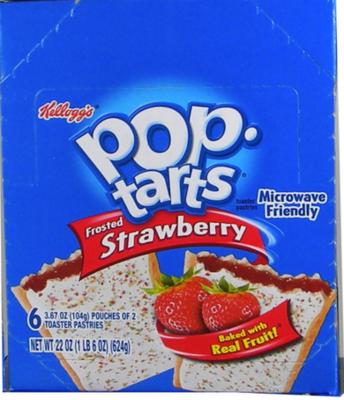 Kellog's Pop Tarts - Strawberry 6/2 packs