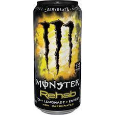 Monster Energy Rehab Lemonade 16 oz - Case of 24