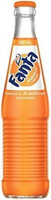 Mexican Fanta Orange 12 oz. Glass Bottles Case of 24