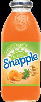Snapple 16 oz New Plastic Bottle Orange Carrot Case of 24