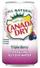 Canada Dry Triple Berry Seltzer 12 oz (cans) - Case of 24