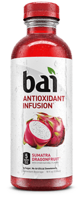 Bai Sumatra Dragon Fruit 12/18 oz bottles