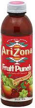 Arizona 20 oz Plastic Bottles Fruit Punch - Case of 24