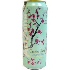 Arizona 23.5 oz Cans Diet Green Tea - Case of 24